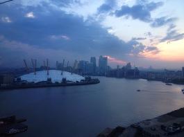 O2 Arena and the Thames   London England