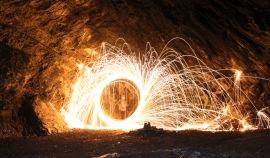 Steel Wool Photography | Green Canyon