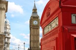 Phone Box and the Elizabeth Tower   London UK